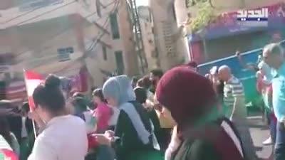 مظاهرات في صور اللبنانية ضد نبيه بري، أكتوبر 2019