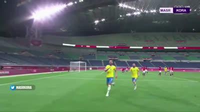 هدف البرازيل في مباراتها مع مصر، 31 يوليو 2021