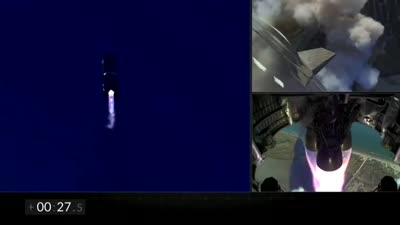 SpaceX unmanned Starship prototype rocket exploded on its return landing following a test flight.mp4