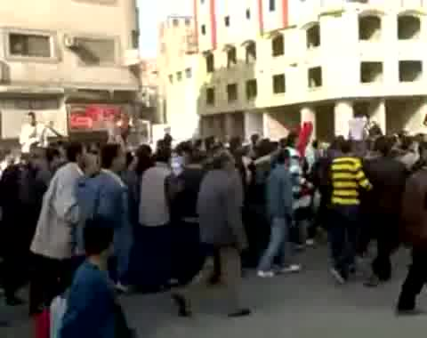 مظاهرة في 25 يناير 2011 بمصر