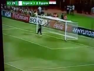 هدف فوز الجزائر على مصر في الخرطوم