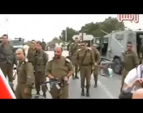 فظاظة الجيش الإسرائيلي في التعامل مع المتظاهرين