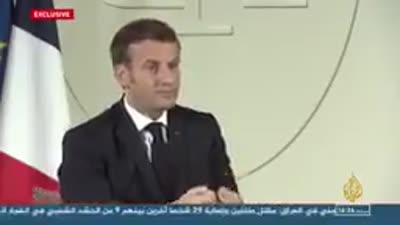 لقاء إمانويل ماكرون على قناة الجزيرة 2020