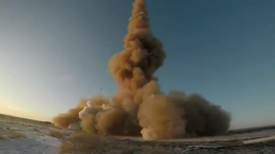 test launch of A-235 PL-19 Nudol anti-ballistic missile system at Sary Shagan testing range in Kazakhstan